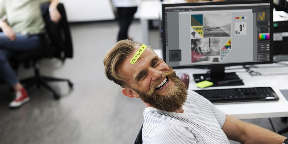zadowolony pracownik